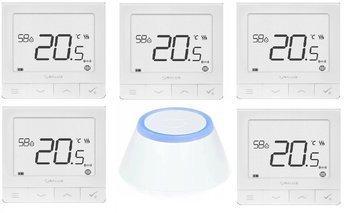Salus SQ610RF regulator temperatury 5 szt. + bramka internetowa UGE600 PROMOPACK