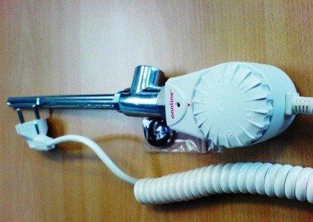"""Grzałka elektryczna 600W GRBT, 1/2"""" Onnline do grzejników drabinkowych.Trójnik w wyposażeniu grzałki W-033 ONNLINE"""